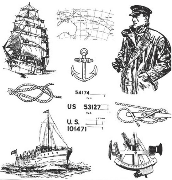 Sailors Elements vector