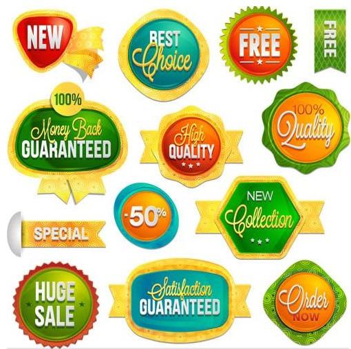 Sale Color Badge vectors graphic