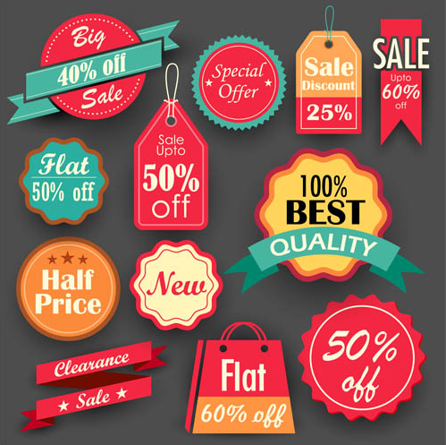 Sale Different Elements design vector