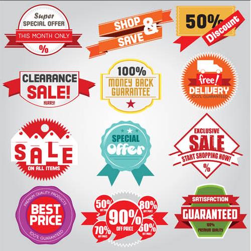 Sale Elements Set2 vector design