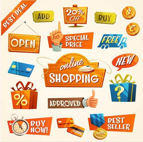Sale Various Elements vector