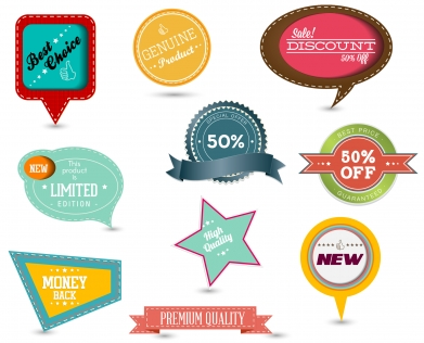 Sale tags collection Free vectors graphics