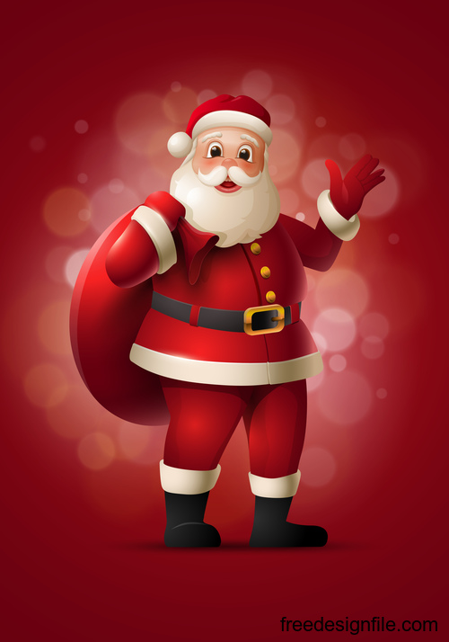 Santa boy illustration vector design 01