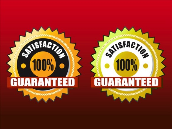 Satisfaction Guaranteed vector