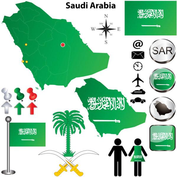 Saudi Arabielements vector