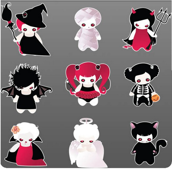 Scary Characters vector graphics