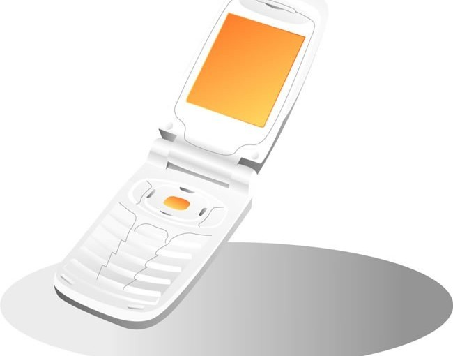 Science and technology communication mobile phone 3 vector