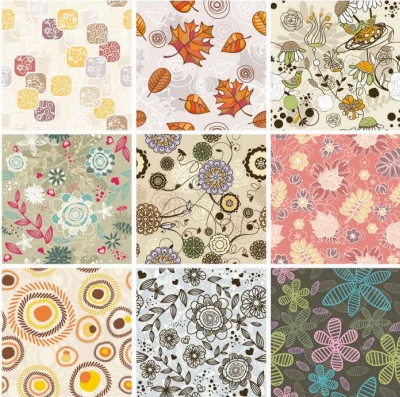 Seamless Floral Background vectors graphic