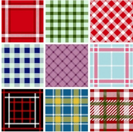 Seamless Plaid Patterns art vectors graphic