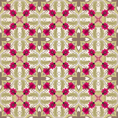 Seamless pattern floral 1 vector