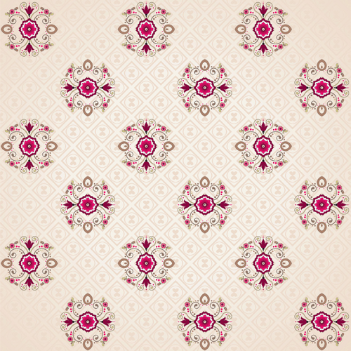 Seamless pattern floral 2 vector