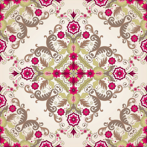 Seamless pattern floral 4 vector