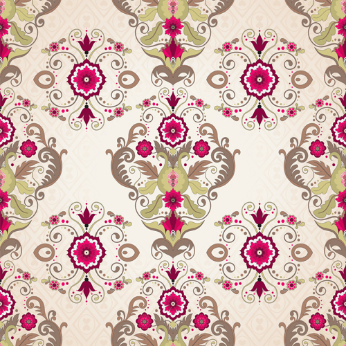 Seamless pattern floral 6 vector