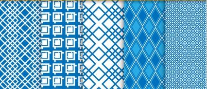 Seamless patterns set 01 vector