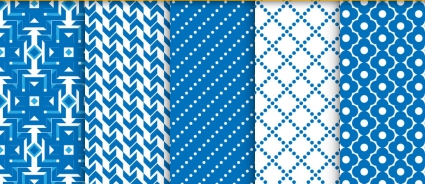 Seamless patterns set 04 vector