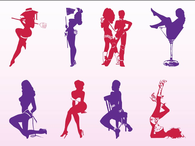 Seductive Girls Set vector