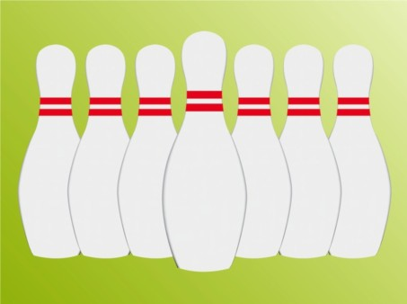 Seven Pins vector graphic