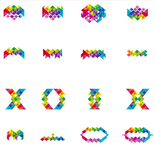 Shiny Abstract Logo Set vector