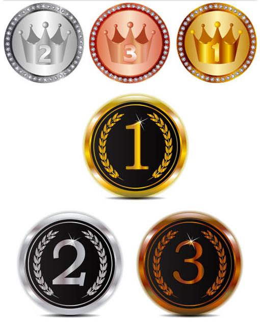 Shiny Awards Symbols vector set