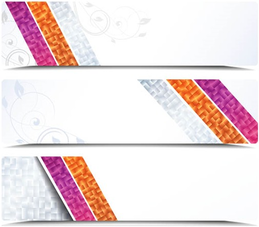 Shiny Banners vector graphic