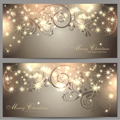 Shiny Christmas Banners 2 vector