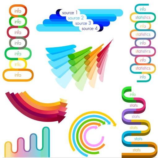 Shiny Color Diagrams Vector Free Download