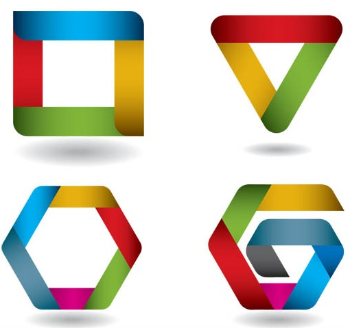 Shiny Creative Symbols art vector