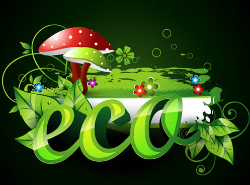 Shiny Eco Backgrounds vector