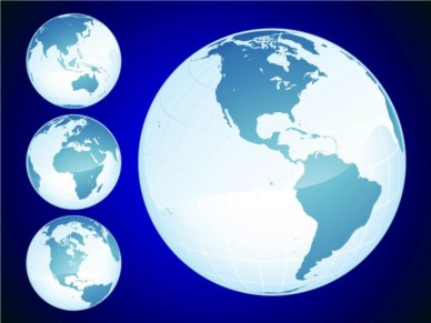Shiny Globes vector