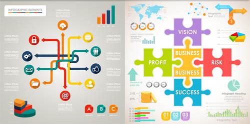 Shiny Infographics 3 vector