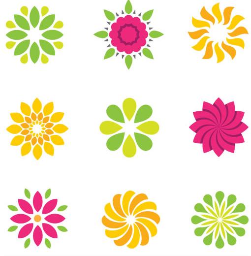 Shiny Logotypes Set vector material