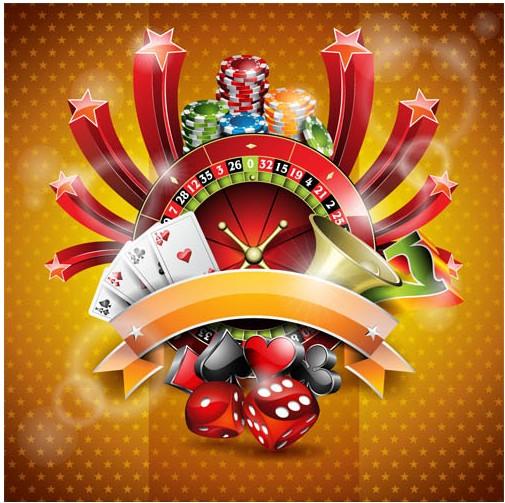 Shiny Poker Backgrounds art vectors graphic