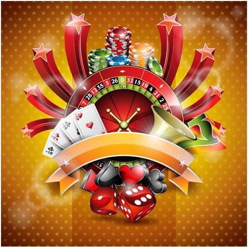 Shiny Poker Backgrounds vector