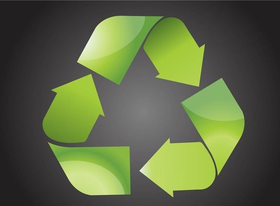 Shiny Recycling Symbol vector