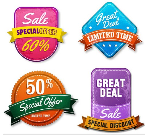 Shiny Sale Stickers free shiny vector