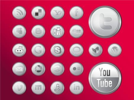 Shiny Social MediIcons Vector set