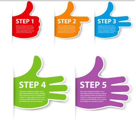 Shiny Step Symbols vector