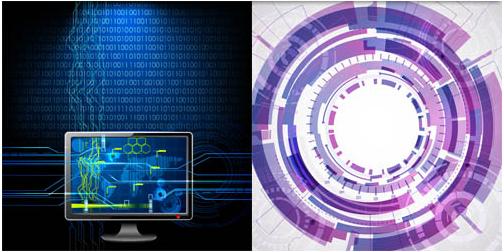 Shiny Technology Backgrounds 3 Illustration vector