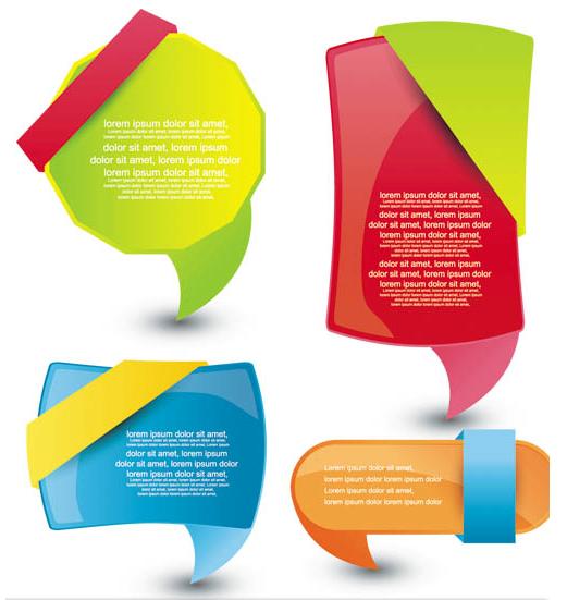 Shiny Web Color Elements art Illustration vector