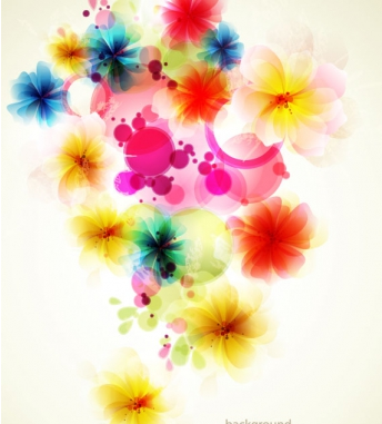 Shiny colorful flower background 1 vector