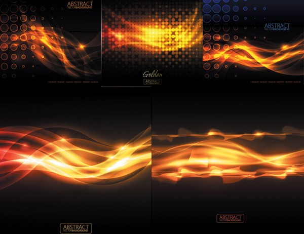 Shiny flame effect Background vector