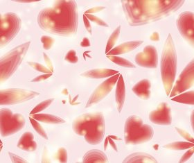 Shiny light dots with valentine pattern vector