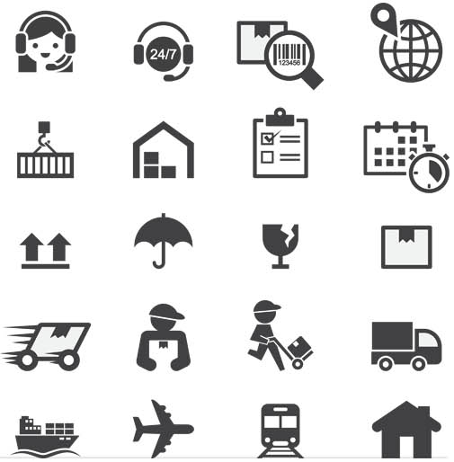 Shipping Icons free vector