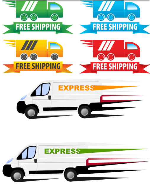Shipping Symbols vector graphic