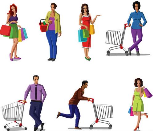 Shopping Set 2 vector