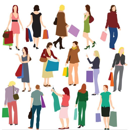 Shopping graphic vector