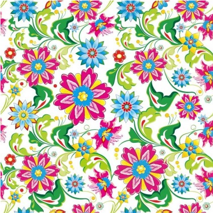 Showy Seamless Floral Background vectors graphics