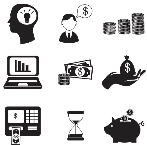 Silhouette Business Icons 4 vectors material