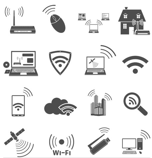 Silhouette Communications Icons vector