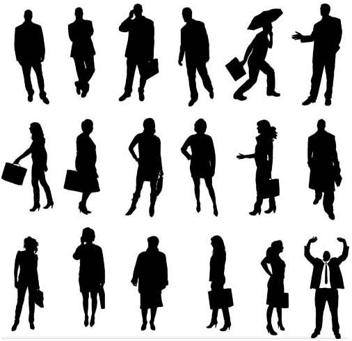 Silhouettes Business People 2 vector
